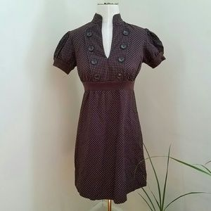 Bebop Brown Polka-dot Dress